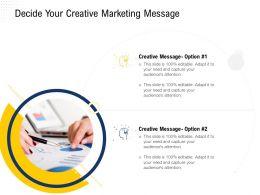 Decide Your Creative Marketing Message Adapt Ppt Powerpoint Presentation Portfolio Information