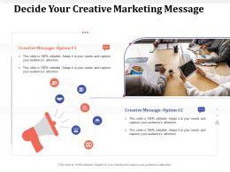 Decide Your Creative Marketing Message M1619 Ppt Powerpoint Presentation Infographics Portrait