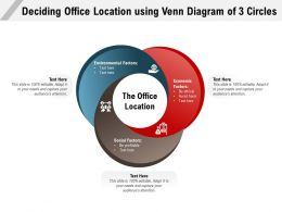 Deciding Office Location Using Venn Diagram Of 3 Circles