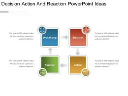 Decision Action And Reaction Powerpoint Ideas