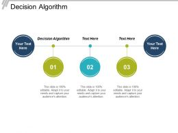 Decision Algorithm Ppt Powerpoint Presentation Infographic Template Example Cpb