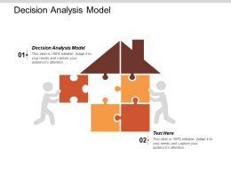 Decision Analysis Model Ppt Powerpoint Presentation Layouts Visuals Cpb