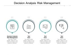 Decision Analysis Risk Management Ppt Powerpoint Presentation Styles Skills Cpb