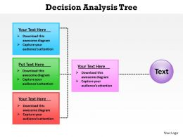 decision analysis tree powerpoint diagram templates graphics 712