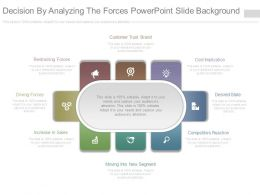 Decision By Analyzing The Forces Powerpoint Slide Background