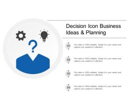 Decision Icon Business Ideas And Planning