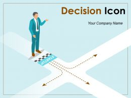 Decision Icon Business Planning Operations Strategic Making
