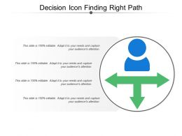 Decision Icon Finding Right Path