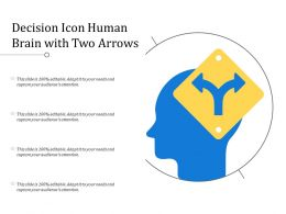 Decision Icon Human Brain With Two Arrows