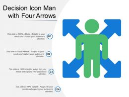 Decision Icon Man With Four Arrows