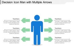 Decision Icon Man With Multiple Arrows