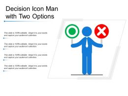 Decision Icon Man With Two Options