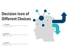 Decision Icon Of Different Choices