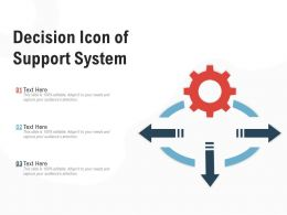 Decision Icon Of Support System