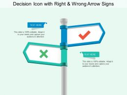 Decision Icon With Right And Wrong Arrow Signs