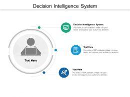 Decision Intelligence System Ppt Powerpoint Presentation Infographics Portfolio Cpb