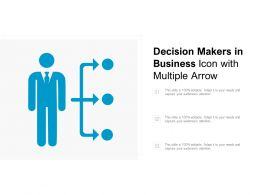 Decision Makers In Business Icon With Multiple Arrow