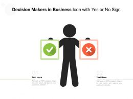 Decision Makers In Business Icon With Yes Or No Sign