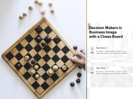 Decision Makers In Business Image With A Chess Board