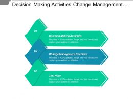 Decision Making Activities Change Management Checklist Risk Analysis Methods Cpb