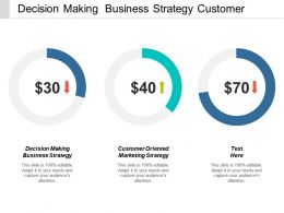 Decision Making Business Strategy Customer Oriented Marketing Strategy Cpb