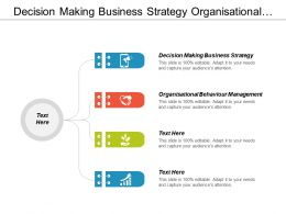 Decision Making Business Strategy Organisational Behaviour Management Customer Responsiveness Cpb