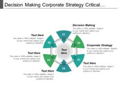 Decision Making Corporate Strategy Critical Success Factors Strategy Cpb