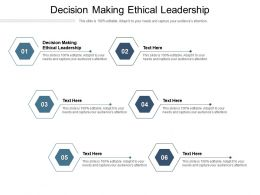Decision Making Ethical Leadership Ppt Powerpoint Presentation Model Diagrams Cpb