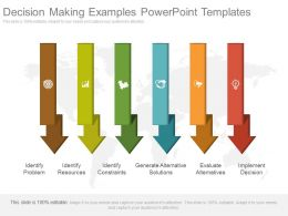 Decision Making Examples Powerpoint Templates