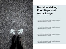 Decision Making Foot Steps And Arrow Image