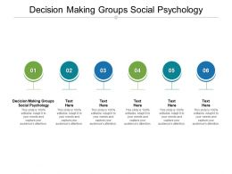 Decision Making Groups Social Psychology Ppt Powerpoint Presentation Infographic Template Cpb