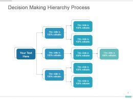 Decision Making Hierarchy Process Presentation Graphic