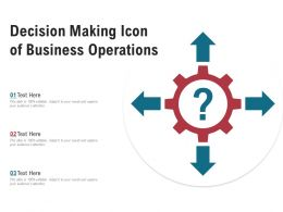 Decision Making Icon Of Business Operations