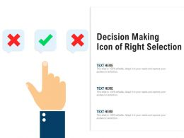 Decision Making Icon Of Right Selection