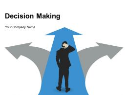 Decision Making Icon Showing 3 Arrows With 3 Options Silhouette