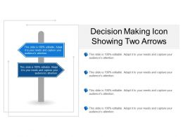 Decision Making Icon Showing Two Arrows