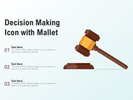 Decision Making Icon With Mallet