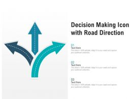 Decision Making Icon With Road Direction