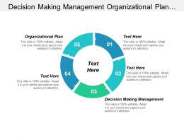 Decision Making Management Organizational Plan Project Management Status Cpb