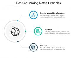 Decision Making Matrix Examples Ppt Powerpoint Presentation Styles Graphics Pictures Cpb