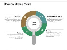 Decision Making Matrix Ppt Powerpoint Presentation File Visual Aids Cpb