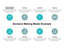 Decision Making Model Example Ppt Powerpoint Presentation Outline Cpb