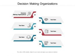 Decision Making Organizations Ppt Powerpoint Presentation Slides Maker Cpb