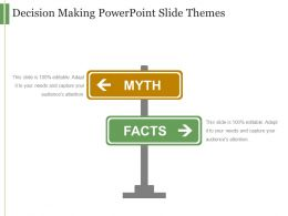 Decision Making Powerpoint Slide Themes