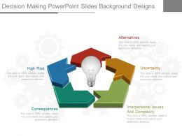Decision Making Powerpoint Slides Background Designs