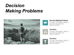 Decision Making Problems Ppt Powerpoint Presentation Portfolio Deck Cpb