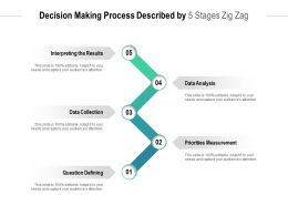 Decision Making Process Described By 5 Stages Zig Zag