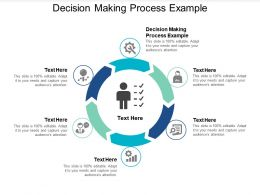 Decision Making Process Example Ppt Powerpoint Presentation Icon Graphics Template Cpb