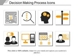 Decision Making Process Icons