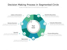 Decision Making Process In Segmented Circle